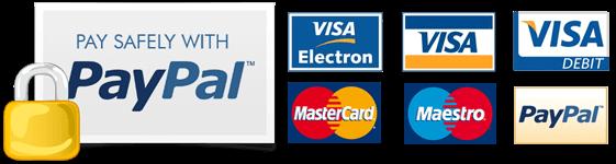 sichere Bezahlmöglichkeiten: PayPal