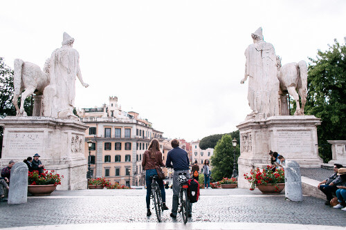 Impressive views from the Capitoline Hill on our Bike Tour.