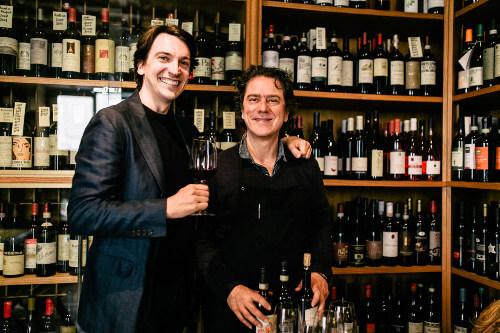 Massimo runs the familiy owned Winebar Angolo Divino with a selection of great Italian wine