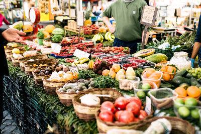 The food market Campo de'Fiori