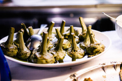 One of the most famous dishes in Rome - Artichokes Roman Style