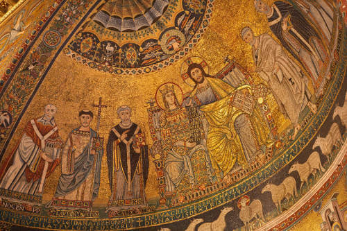 The miraculous mosaic of the Church of Santa Maria in Tratevere
