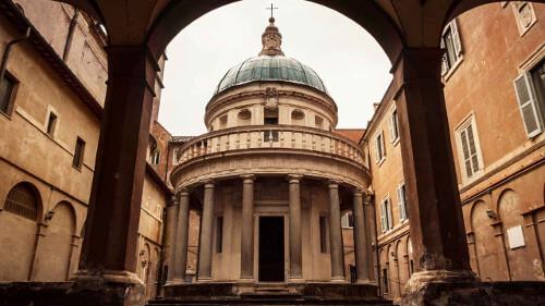 One of Rome's hidden treasures is the Tempietto del Bramante