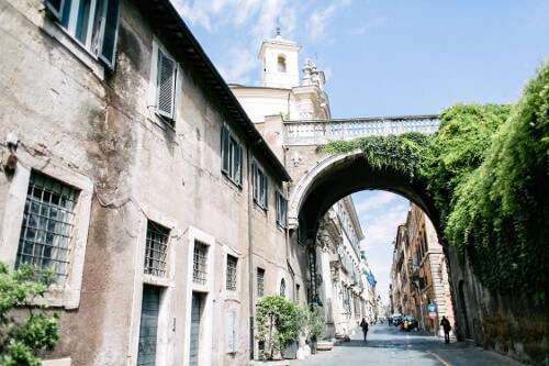 Via Giulia is regarded as one of Rome's most beautiful streets.