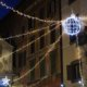 Christmaslights in Rome in shape of a sphere