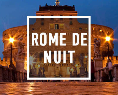 Le château Saint Ange lors de la visite de Rome de nuit avec Rex-Tours